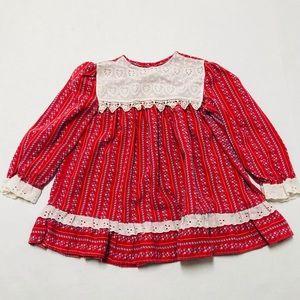 5/$25 Vintage baby girls prairie dress 18-24 M